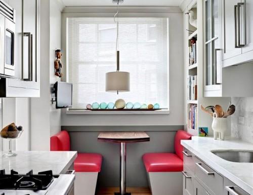 Desain interior dapur dengan breakfast nook -8-ball