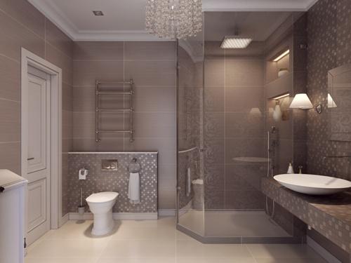 Desain interior kamar mandi klasik (Fotolia)