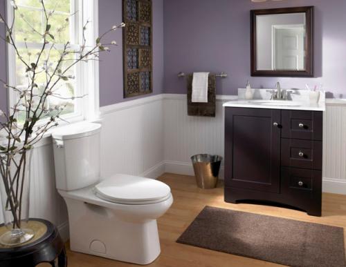 Desain interior kamar mandi minimalis (Lowes)