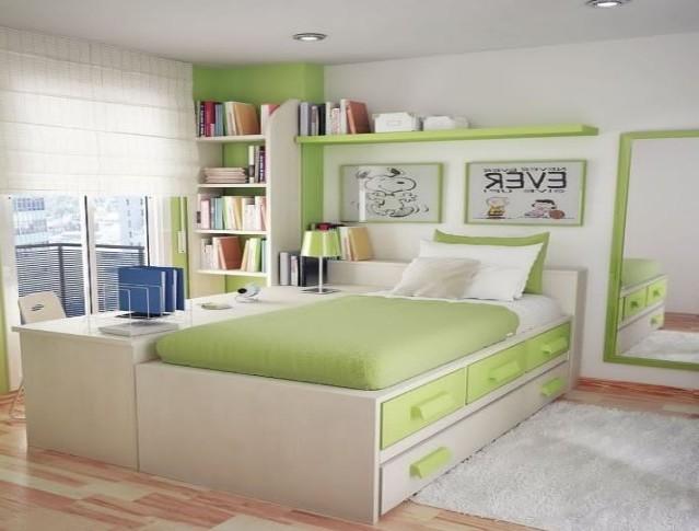Desain interior kamar tidur kecil (Gisprojects)