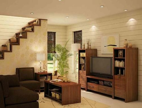 Desain interior ruang tamu minimalis bawah tangga - Mazcepc
