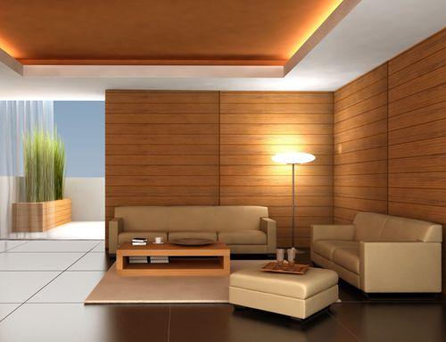 Desain interior rumah modern dengan pencahayaan (Encitz)