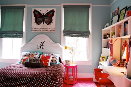 Desain kamar tidur remaja bernuansa eklektik
