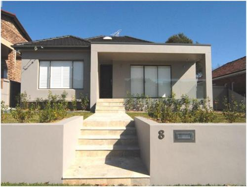 Desain pagar minimalis berbahan beton