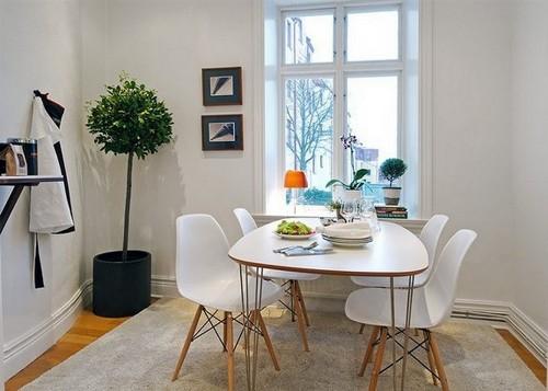 Desain ruang makan minimalis dengan furniture simple dan modern