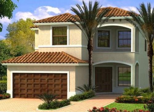 Desain Rumah Sederhana 2 Lantai Bertema Mediterania