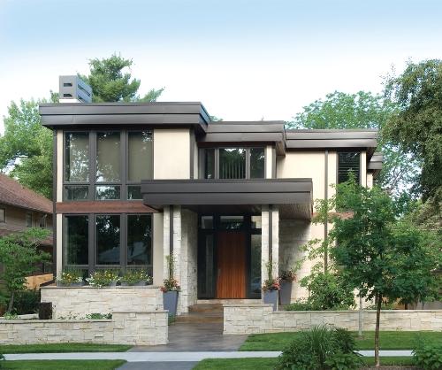 Eksterior rumah 2 lantai bernuansa modern