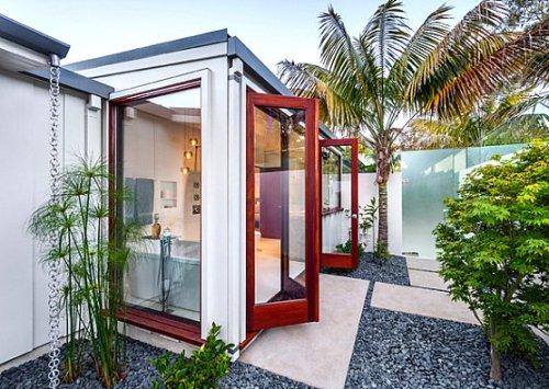 Ide Desain Eksterior Rumah Dengan Taman Minimalis