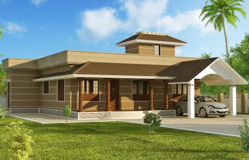 Fasad Rumah minimalis modern 1 lantai