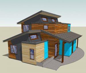 rumah tingkat minimalis dengan desain unik modern