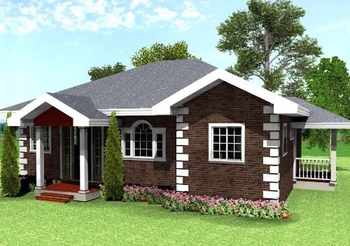 Gambar Denah Rumah Sederhana 1 lantai
