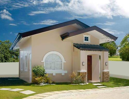 Gambar Rumah Minimalis Modern 1 Lantai  dengan area hijau