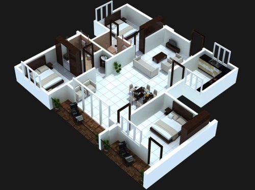 Gambar denah rumah sederhana tapi elegan