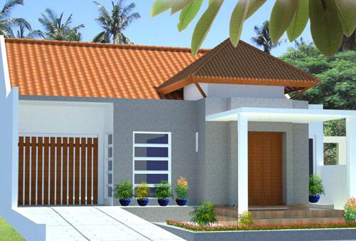 Gambar rumah minimalis type 36 dengan nuansa tropis