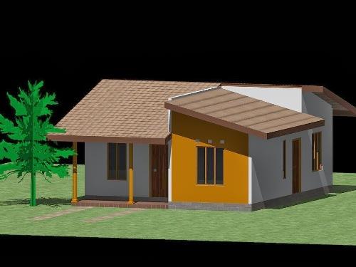 Gambar Rumah Sederhana Tapi Elegan dan Artistik 1 Lantai