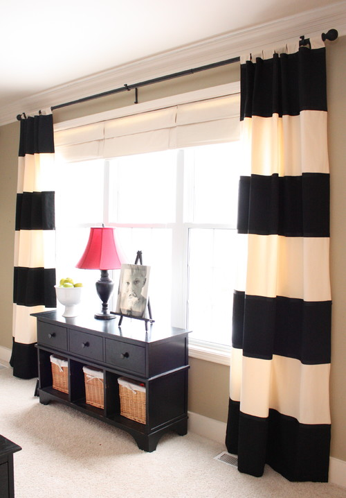 Gorden minimalis motif belang horizontal