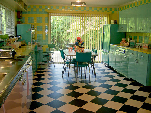 Interior Dapur Retro Style