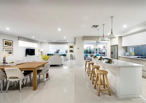 Interior rumah minimalis sederhana tanpa sekat