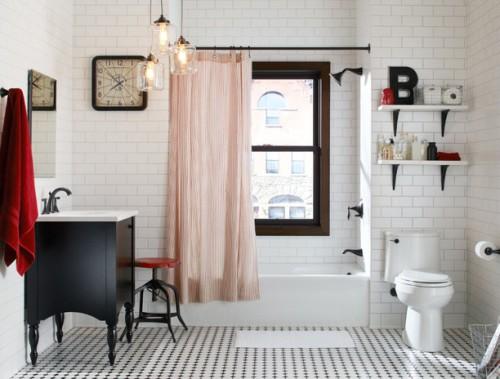 Kamar mandi bergaya eklektik - Houzz