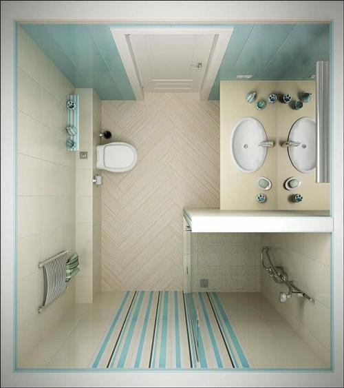 Kamar mandi bernuansa lembut - Virtuallycheap