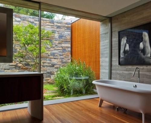 Kamar mandi transparan dengan dinding kaca - Molapro