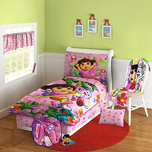 Kamar tidur anak perempuan modern bertema Dora