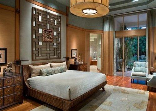 Kamar tidur bertema kayu (Minimalisti)