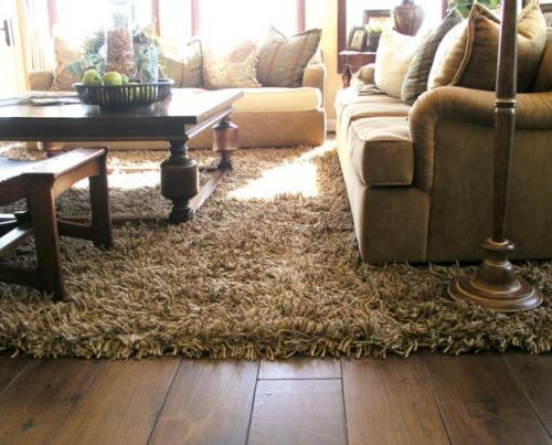 Karpet bulu untuk ruang keluarga (Hublivingroomideas)
