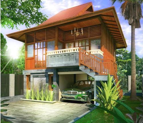 Konsep rumah panggung modern di perkotaan - Rumahtop