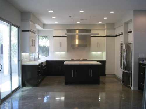 Lantai dapur dari bahan semen (Chimecms)