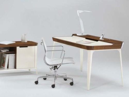 4 Desain Interior Kantor Minimalis Dengan Model Meja Unik