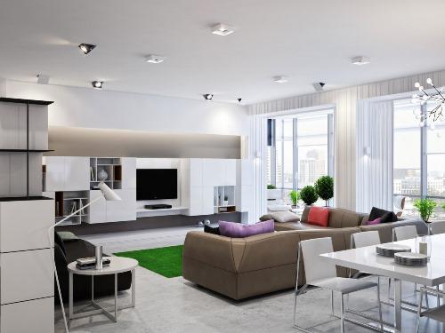 Meredam suara pada desain ruang keluarga terbuka (Home-designing)