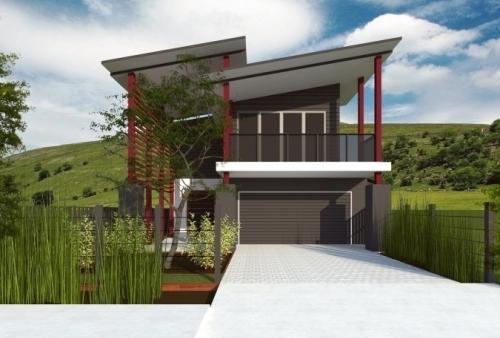 Model Atap Rumah Minimalis Kontemporer tipe sandar