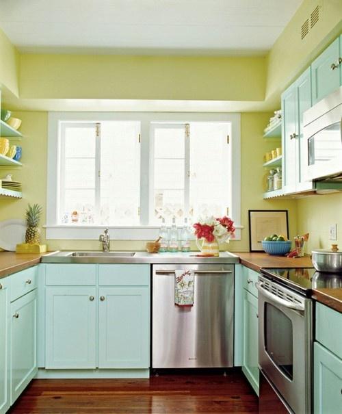 Model Dapur Minimalis dengan Warna Pastel Lembut