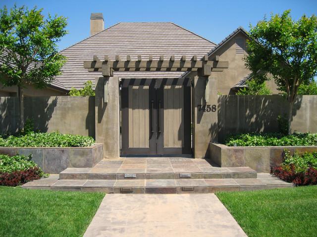 Model pagar rumah minimalis dengan gapura - Houzz