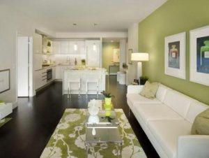 interior ruang tamu pada desain rumah minimalis type 36