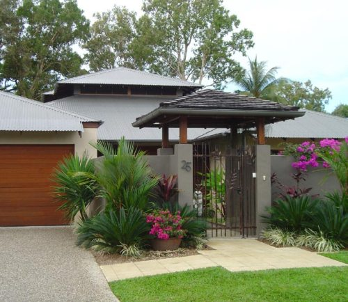 Model rumah minimalis 1 lantai dengan fasad tropis