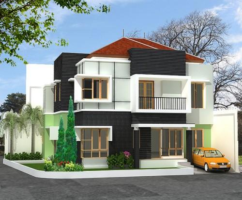 Paduan 3 warna di rumah minimalis modern