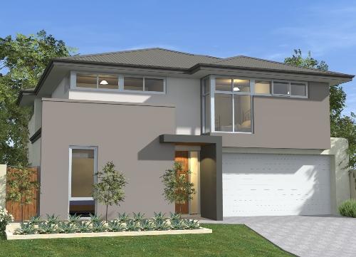 Paduan warna abu-abu menjadi ciri khas rumah minimalis kontemporer