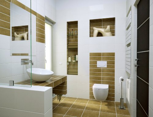 Paduan warna keramik kamar mandi minimalis - Oldnassoul