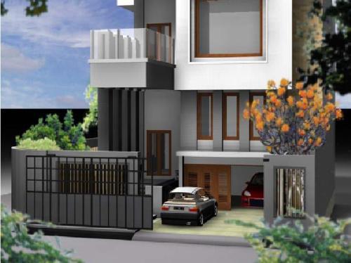 Pagar rumah minimalis bernuansa kontemporer