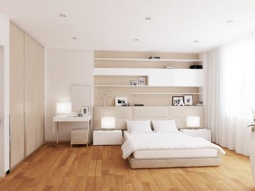 Putih adalah warna paling populer untuk interior rumah minimalis