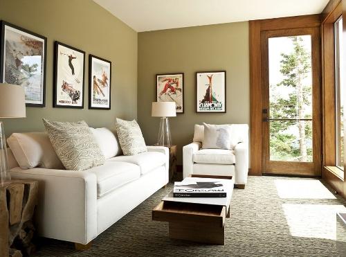 Ruang keluarga minimalis dengan lukisan (Ufnativebuzz)