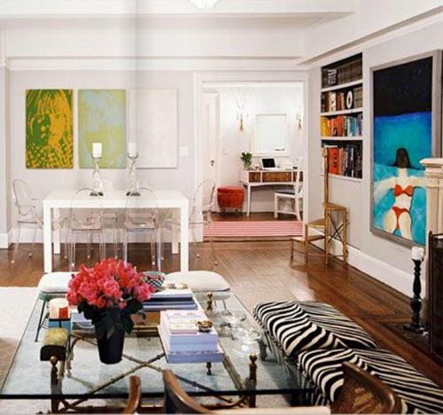 Ruang tamu minimalis namun artistik di rumah type 36