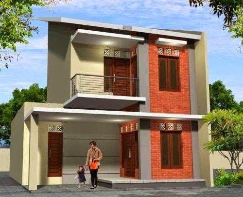Rumah minimalis 2 lantai segar dengan unsur alam
