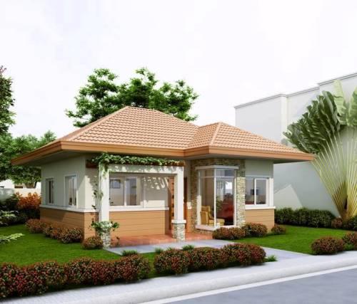 Rumah minimalis dengan half-siding (Inspirasi Kehidupan - Facebook)