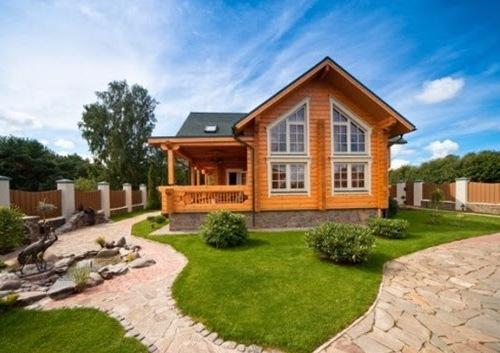 Rumah minimalis kayu dengan nuansa pegunungan