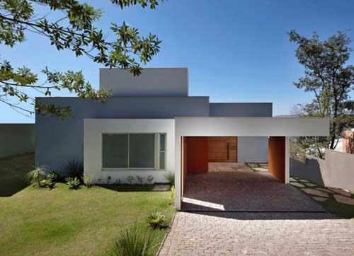 Rumah minimalis terbaru mengedepankan bentuk geometri sederhana