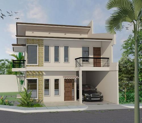 Rumah modern Philipina dengan atap datar