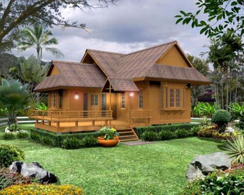 Rumah panggung minimalis bernuansa asri dan alami - Rumah-minimalis